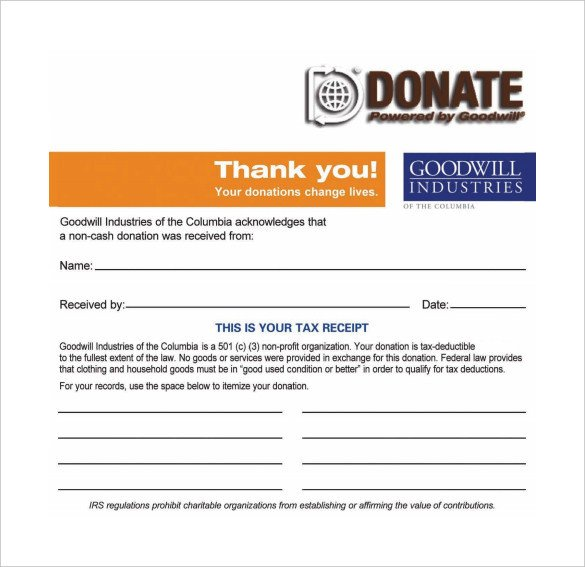 501c3 Donation Receipt 501c3 Tax Deductible Donation Letter