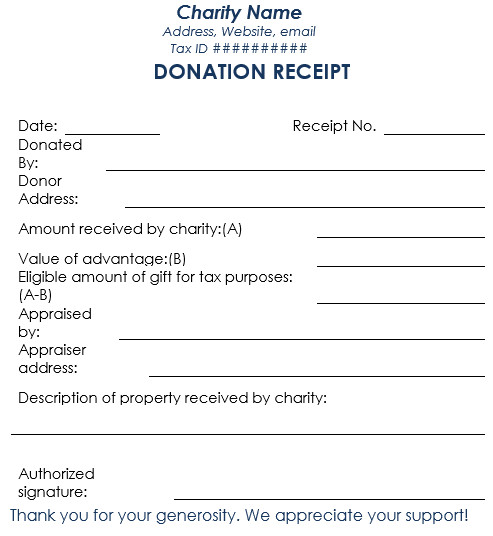 501c3 Donation Receipt Donation Receipt Template 12 Free Samples In Word and Excel