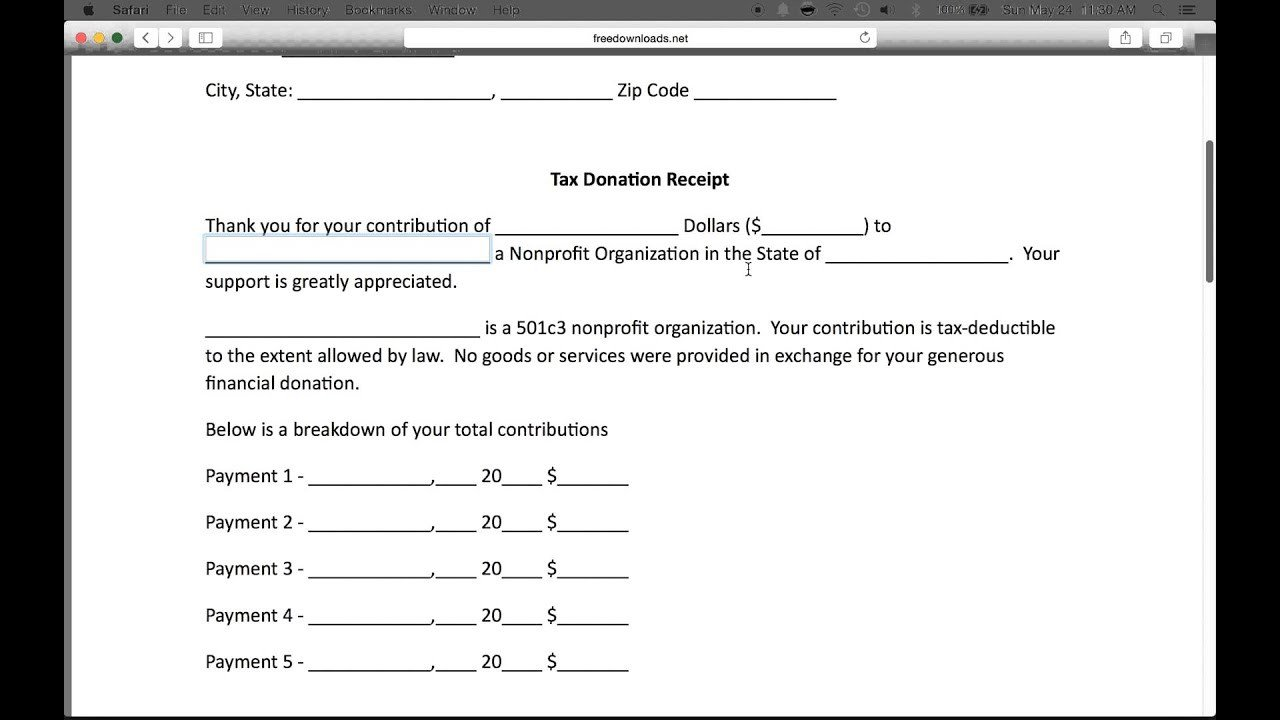 501c3 Donation Receipt How to Write A 501c3 Donation Receipt Letter Pdf