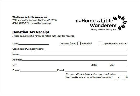 501c3 Donation Receipt Template 20 Donation Receipt Templates Pdf Word Excel Pages