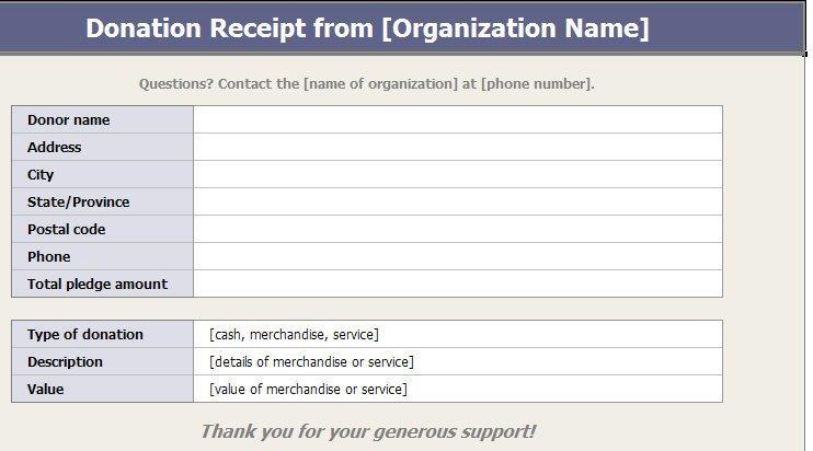 501c3 Donation Receipt Template 501c3 Donation Receipt