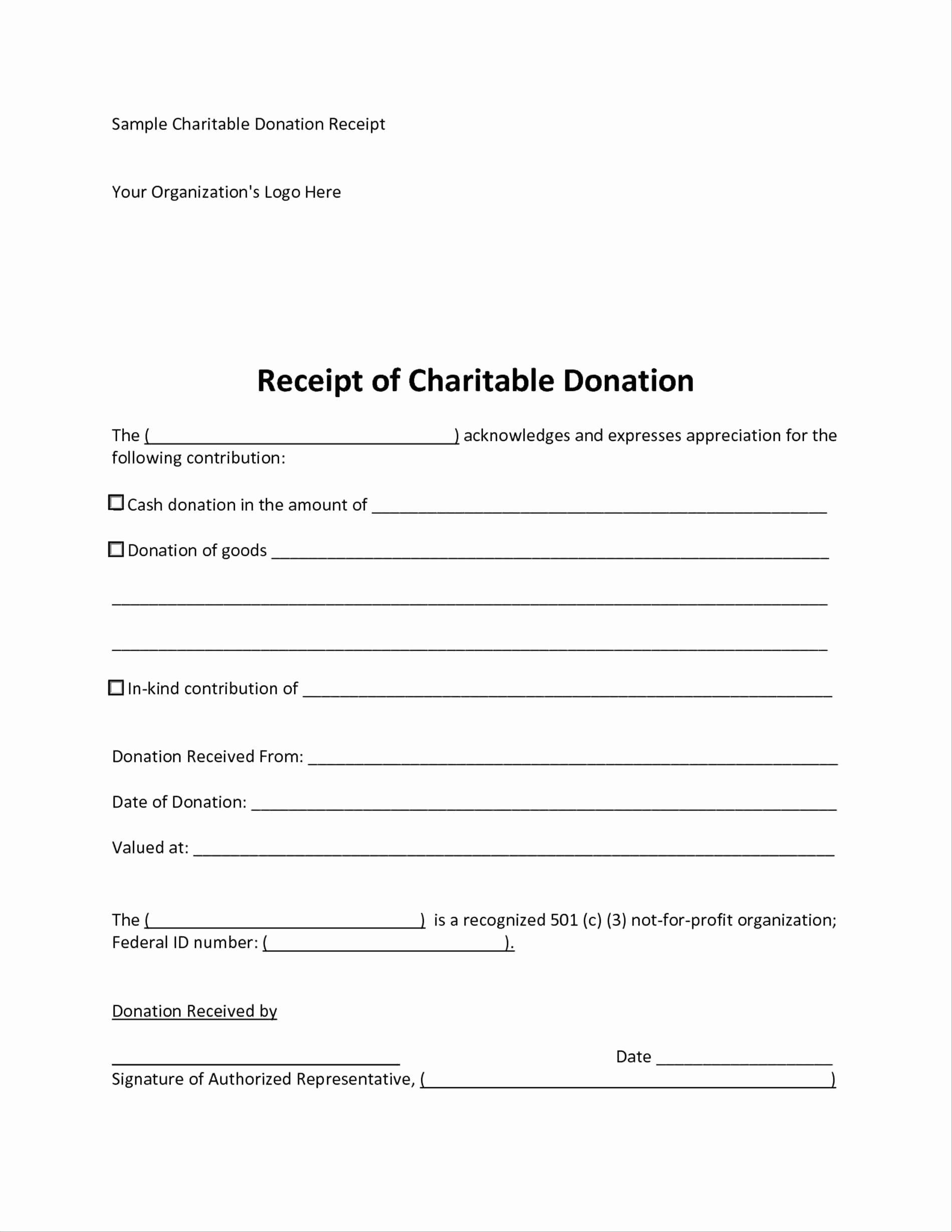 501c3 Donation Receipt Template 501c3 Letter Beautiful Donor Thank You Letter Template