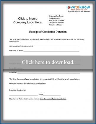 501c3 Donation Receipt Template Charitable Donation Receipt