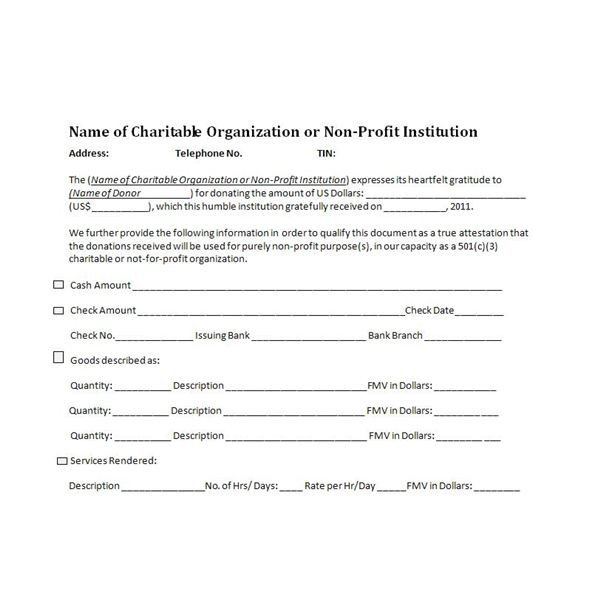 501c3 Donation Receipt Template Charitable Donation Receipts Requirements as Supporting