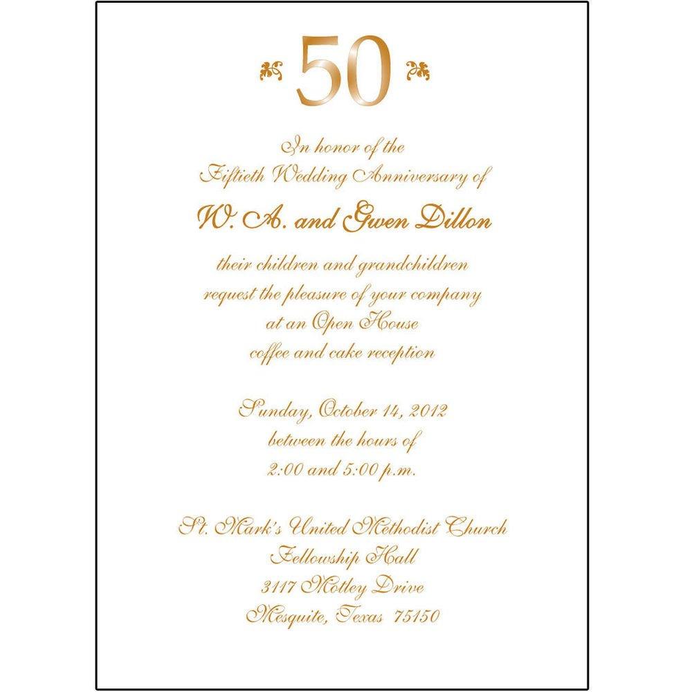 50th Anniversary Invitation Template 25 Personalized 50th Wedding Anniversary Party Invitations