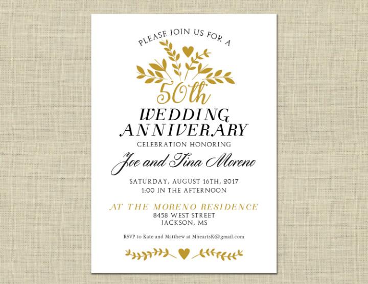 50th Anniversary Invitation Template 32 50th Wedding Anniversary Invitation Designs