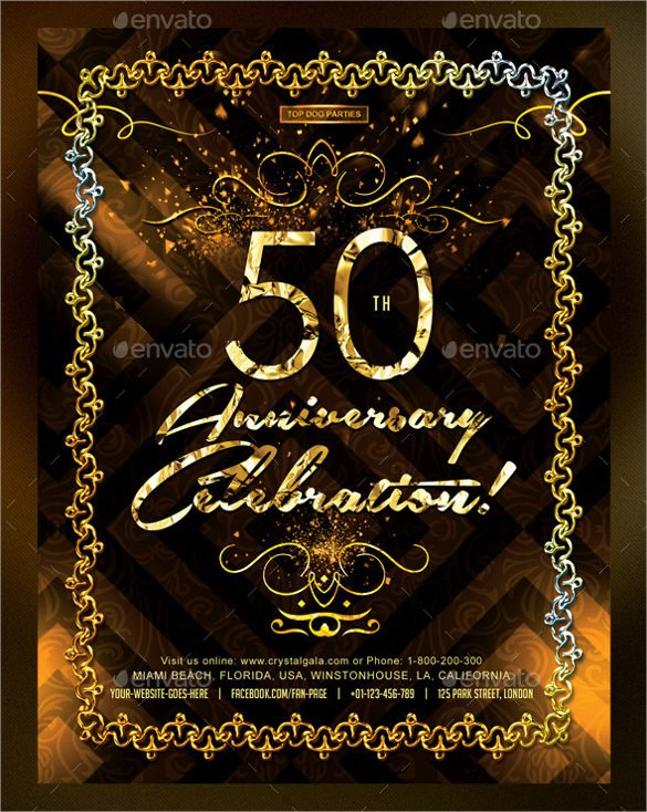 50th Anniversary Invitation Template 45 50th Birthday Invitation Templates – Free Sample