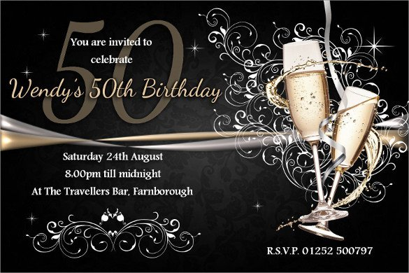50th Anniversary Invitation Template 45 50th Birthday Invitation Templates – Free Sample