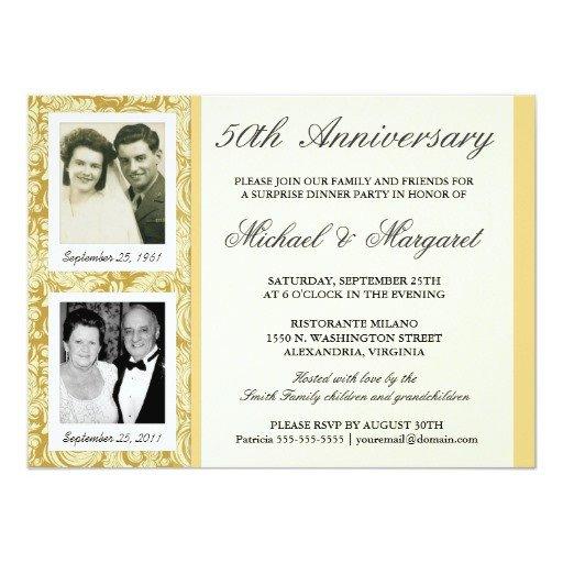 50th Anniversary Invitation Template 50th Anniversary Invitations then & now S