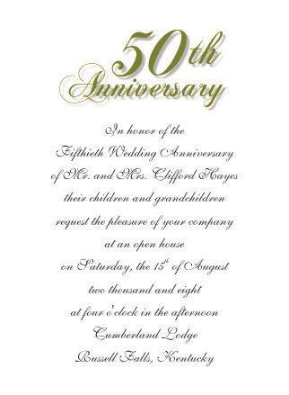 50th Anniversary Invitation Template 50th Wedding Anniversary Invitations