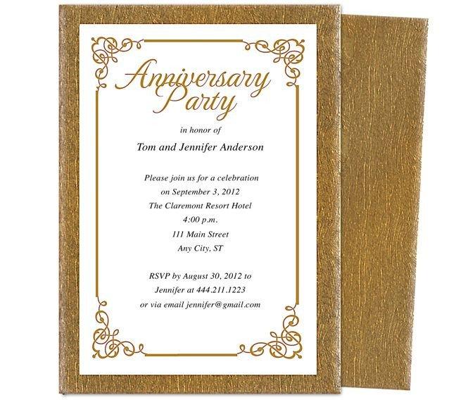 50th Anniversary Invitation Template 9 Best 25th & 50th Wedding Anniversary Invitations