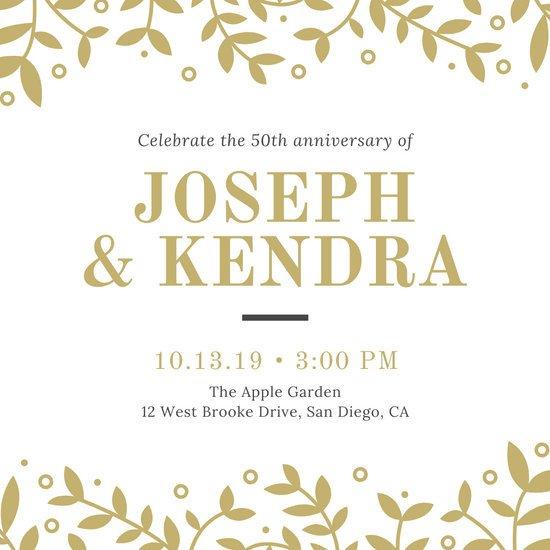 50th Anniversary Invitation Template Customize 389 50th Anniversary Invitation Templates