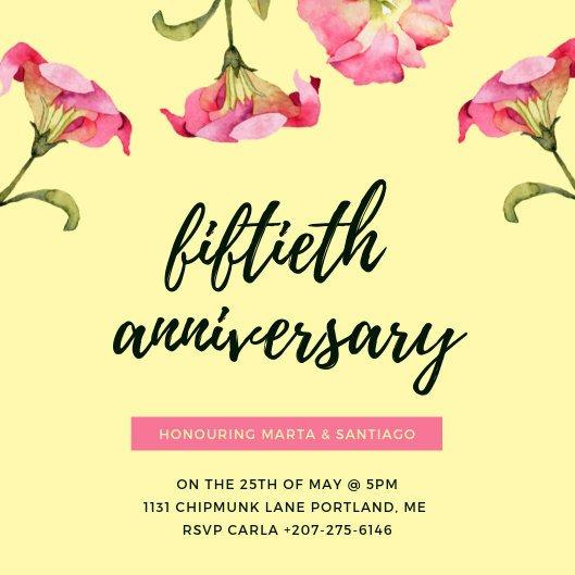 50th Anniversary Invitation Template Customize 453 50th Anniversary Invitation Templates