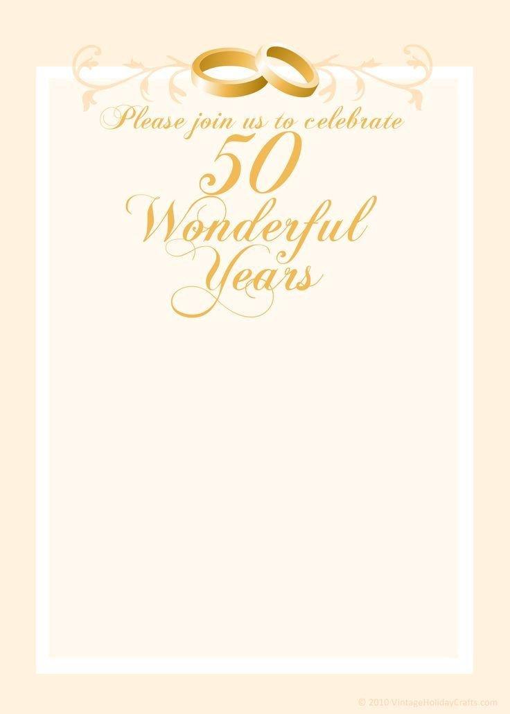 50th Anniversary Invitation Template Free Anniversary Invitation Templates