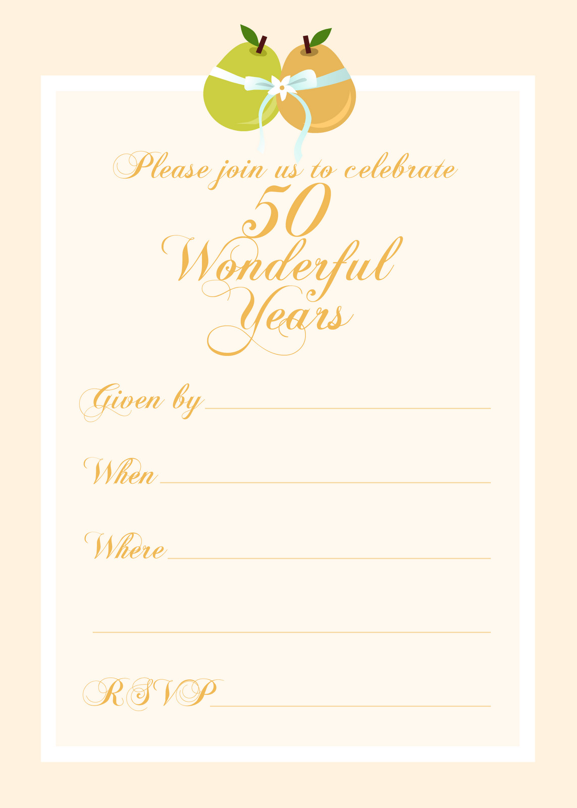 50th Anniversary Invitation Template Free Printable Party Invitations Free 50th Wedding