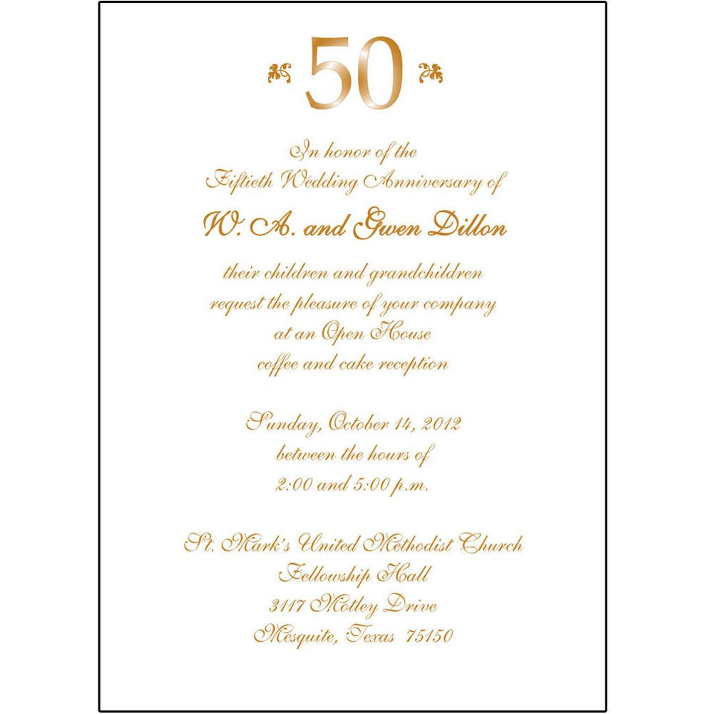 50th Anniversary Invitations Templates 25 Personalized 50th Wedding Anniversary Party Invitations