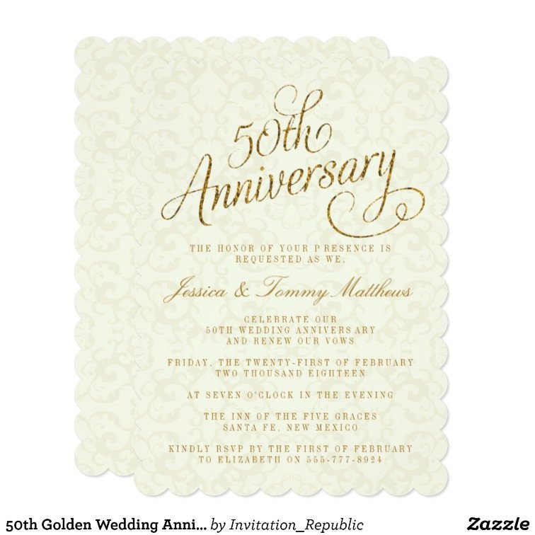 50th Anniversary Invitations Templates 50th Golden Wedding Anniversary Invitations