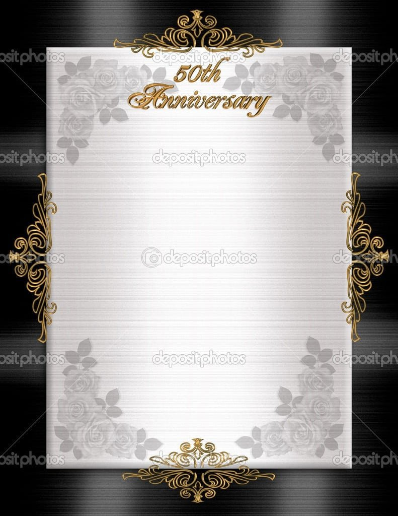 50th Anniversary Invitations Templates 50th Wedding Anniversary Printable Invitation