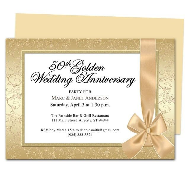50th Anniversary Invitations Templates 9 Best 25th & 50th Wedding Anniversary Invitations