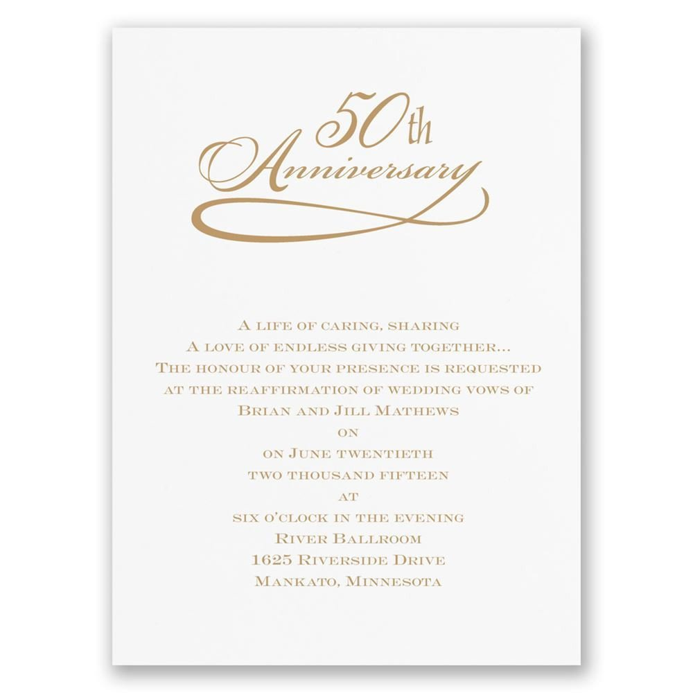 50th Anniversary Invitations Templates Classic 50th Anniversary Invitation