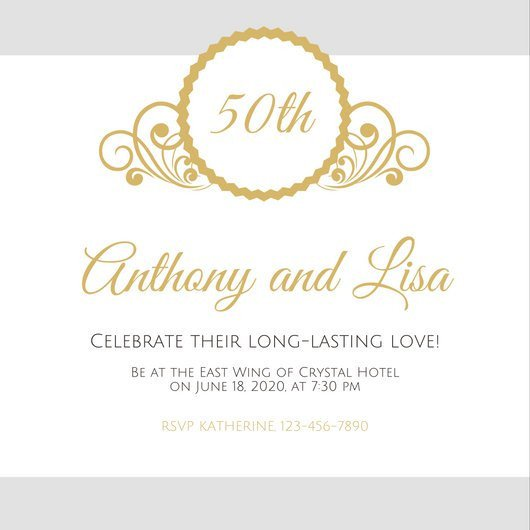 50th Anniversary Invitations Templates Customize 1 796 50th Anniversary Invitation Templates