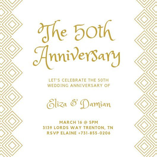 50th Anniversary Invitations Templates Customize 453 50th Anniversary Invitation Templates