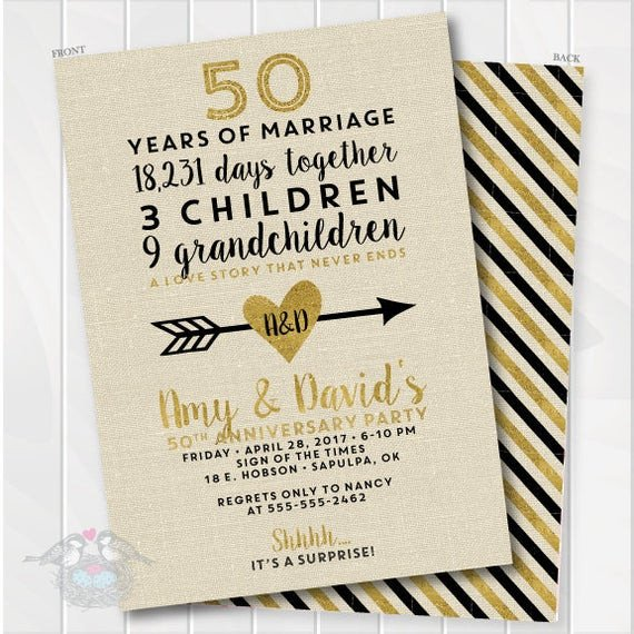 50th Anniversary Invitations Templates Golden Wedding Anniversary Invitation 50th Anniversary