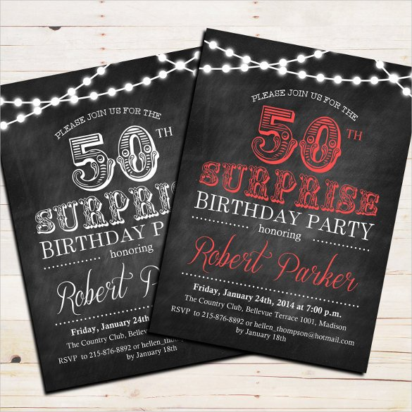50th Birthday Invitation Template 45 50th Birthday Invitation Templates – Free Sample
