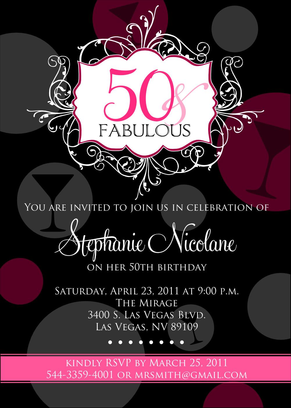 50th Birthday Invitation Template 50th Birthday Beach Party Invitations