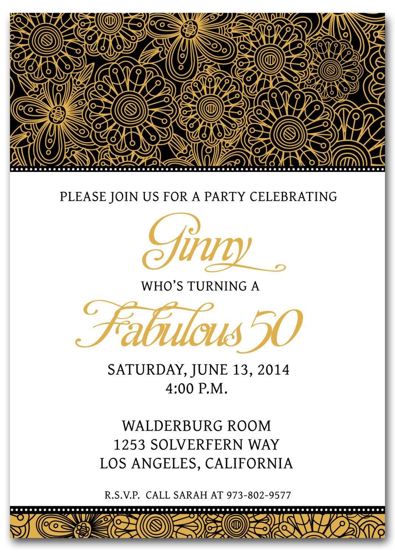 50th Birthday Invitation Template 50th Birthday Invitation Templates Free Printable