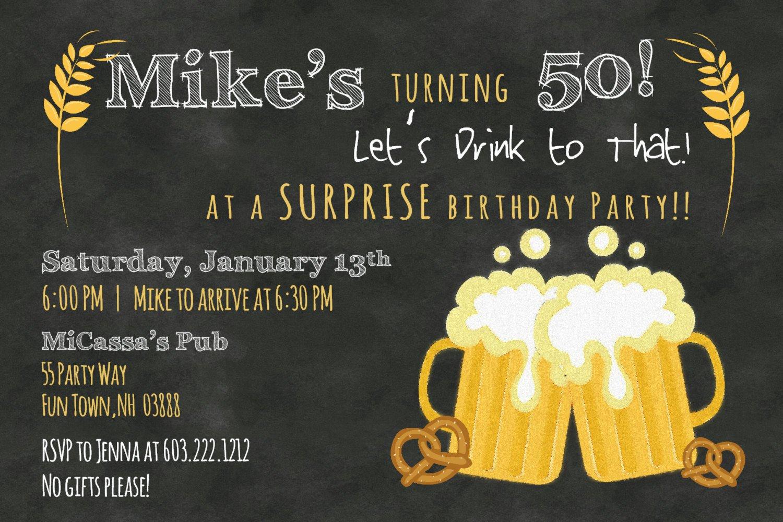 50th Birthday Invitation Template 50th Birthday Invitation Wording Ideas