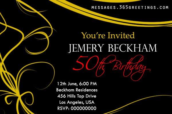 50th Birthday Invitation Template 50th Birthday Invitations and 50th Birthday Invitation