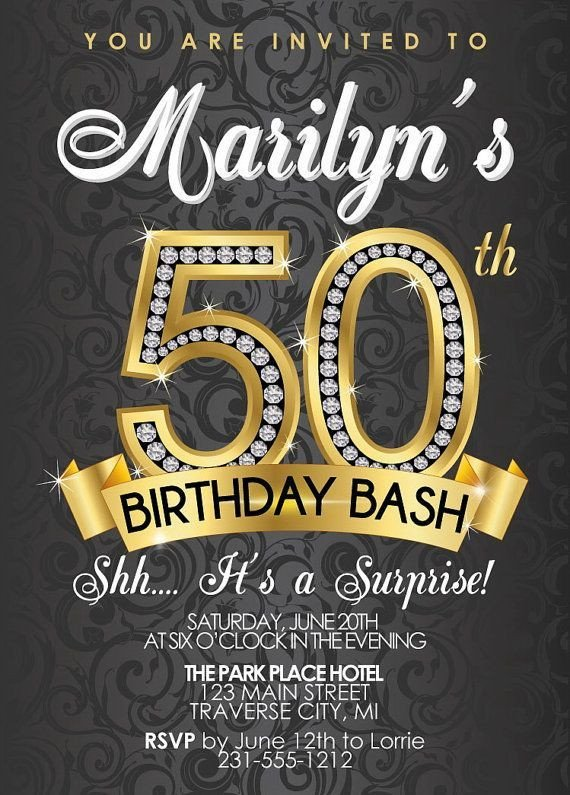 50th Birthday Invitation Template 50th Birthday Invitations Templates Free Alvia S