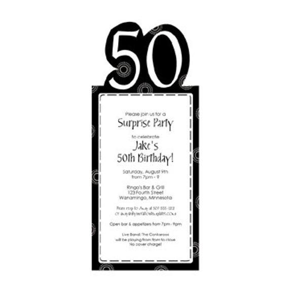 50th Birthday Invitation Template 50th Birthday Party Invitation Template by Loveandpartypaper