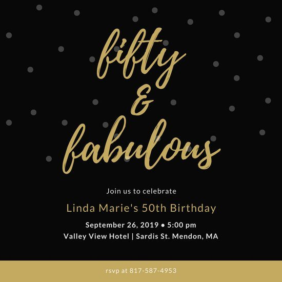 50th Birthday Invitation Template Customize 317 50th Birthday Invitation Templates Online