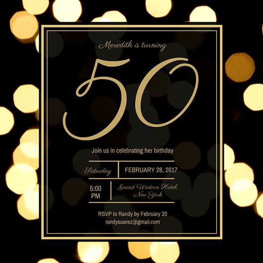 50th Birthday Invitation Template Customize 988 50th Birthday Invitation Templates Online