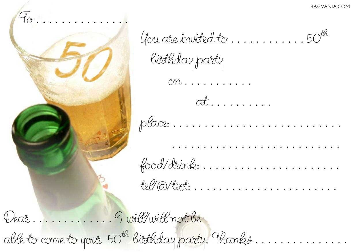 50th Birthday Invitation Template Free 50th Birthday Party Invitations Wording – Bagvania