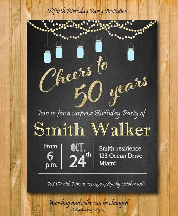 50th Birthday Invitation Template Invitation Template 43 Free Printable Word Pdf Psd