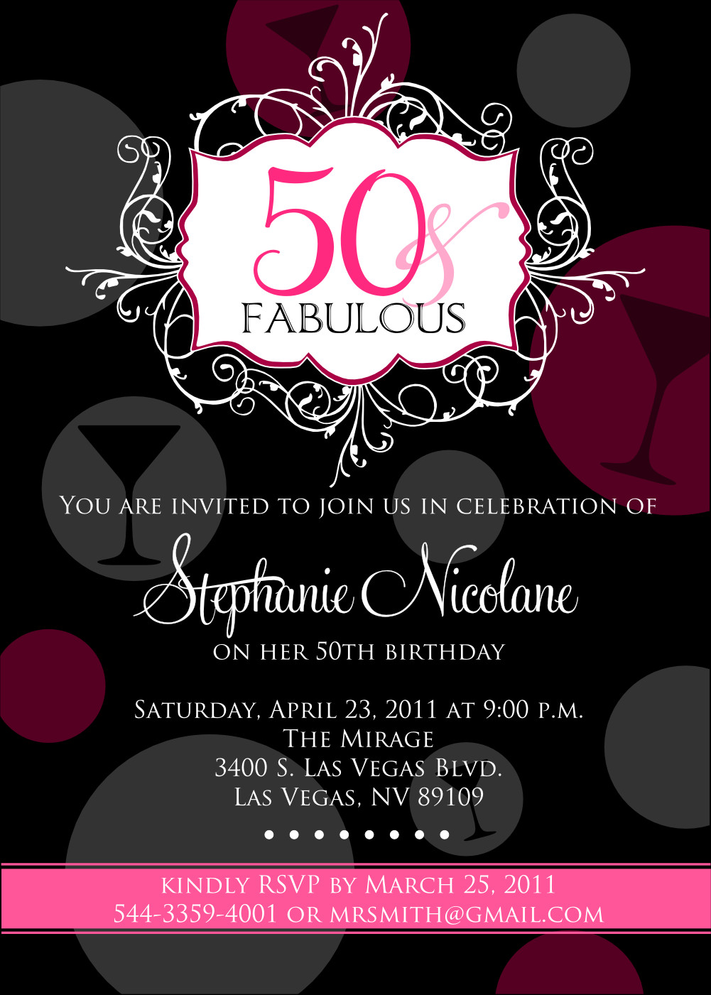 50th Birthday Invitations Templates 50th Birthday Beach Party Invitations