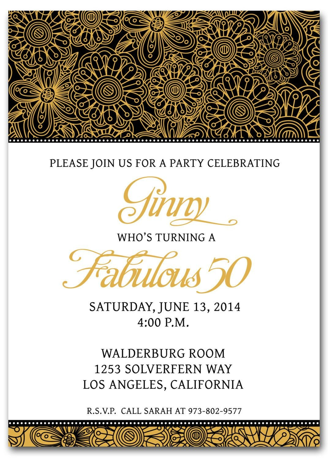 50th Birthday Invitations Templates 50th Birthday Invitation Templates Free Printable