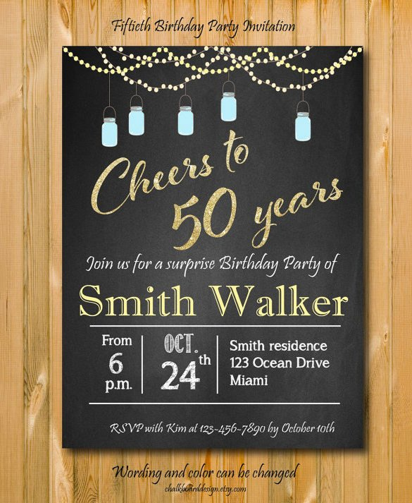 50th Birthday Invitations Templates Invitation Template 43 Free Printable Word Pdf Psd
