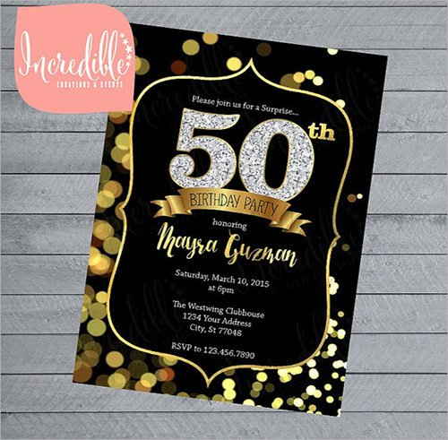 50th Birthday Invitations Templates Invitation Template Download Premium and Free Documents