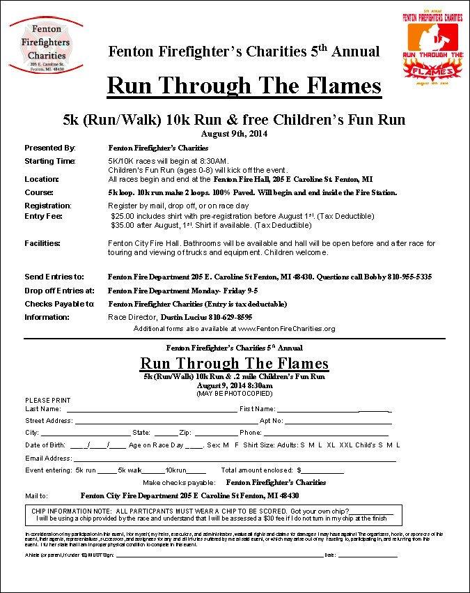 5k Registration form Template 5k & 10k Running