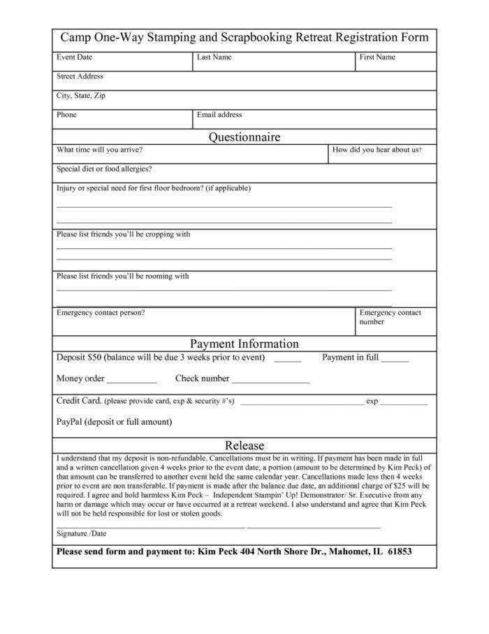 5k Registration form Template 5k Registration form Template Word Templates Resume