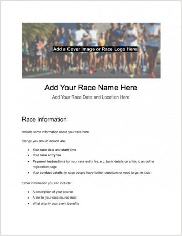 5k Registration form Template 5k Registration form Templates