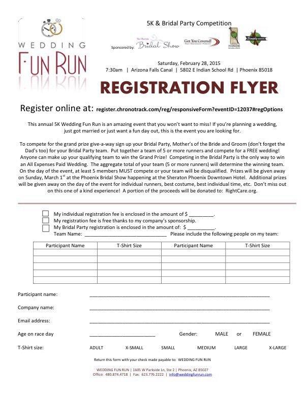 5k Registration form Template Registration form