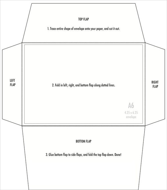 5x7 Envelope Template Word 4 X 6 Templates