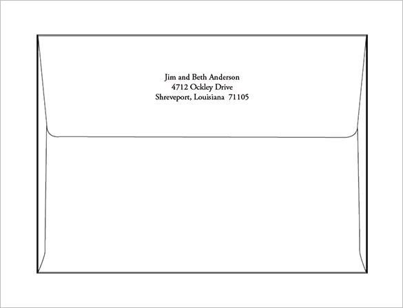 5x7 Envelope Template Word A7 Envelope Templates – 11 Free Printable Word Psd Pdf