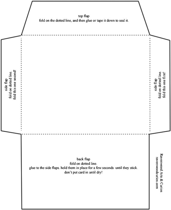 5x7 Envelope Template Word Envelope Template