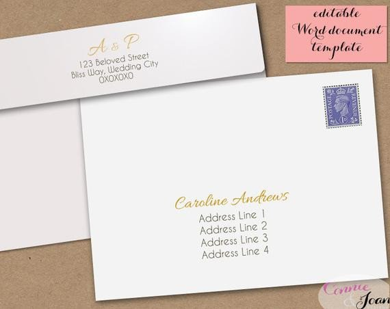 5x7 Envelope Template Word Printable Wedding Envelope Template 5x7 Front and by